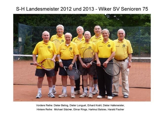 Landesmeister 2012 und 2013